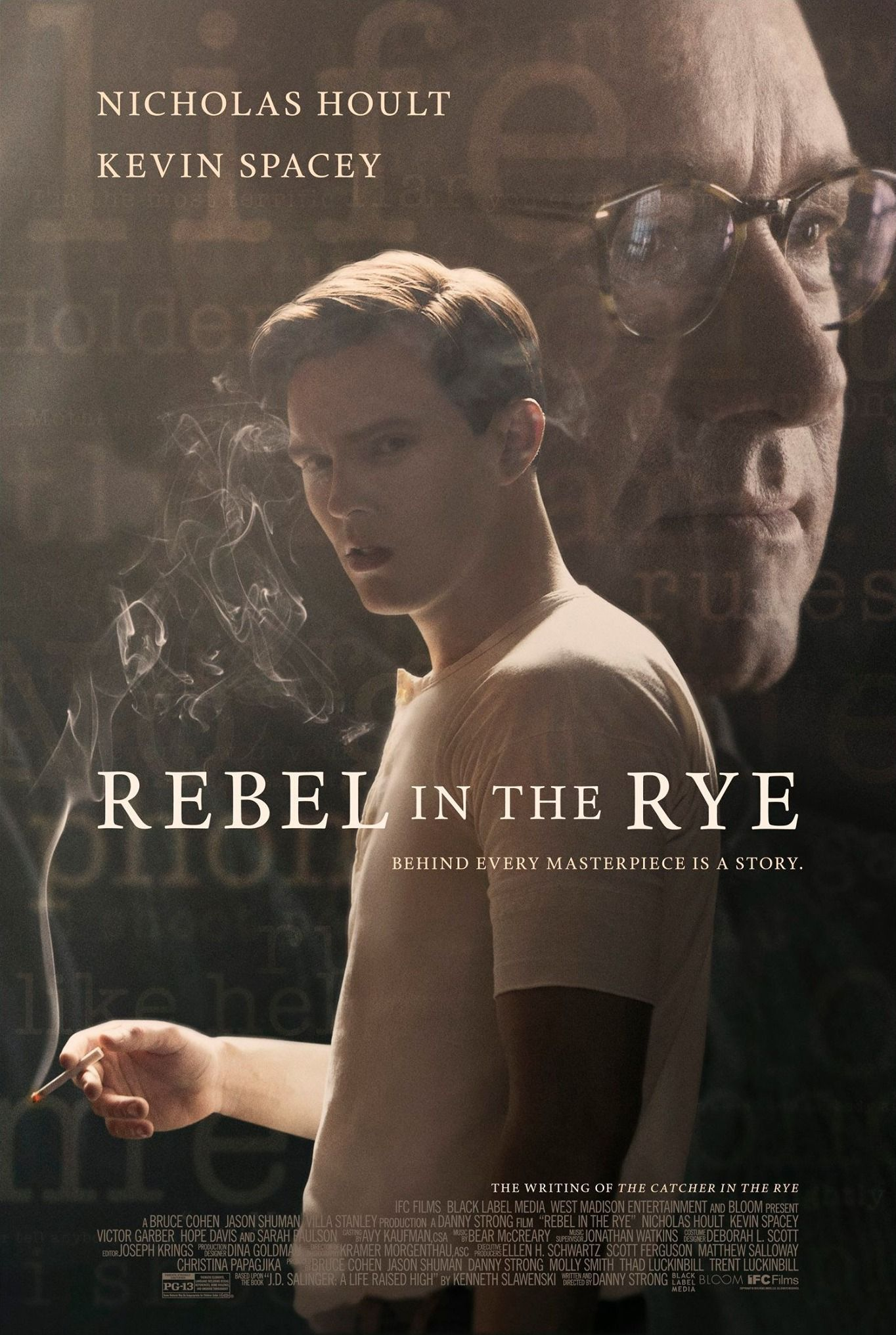 First official poster for 'Rebel in the Rye' starring Kevin Spacey & Nicholas Hoult