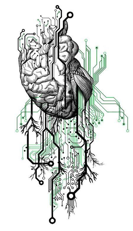 Circuit Board Tattoo Designs: Brain_circuit_board.jpg (450×781):