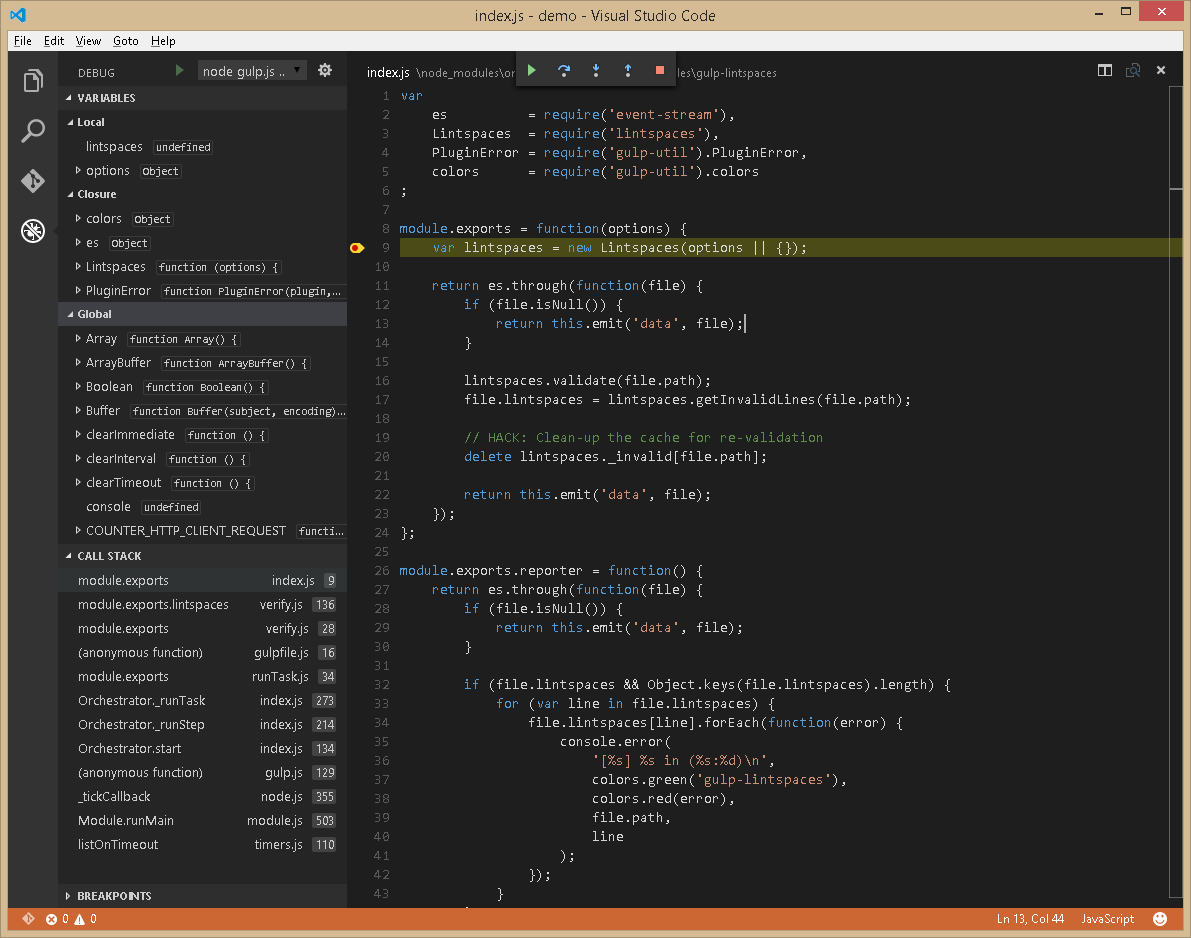 Debugging Task Runner Tasks Like Gulp With Visual Studio Code Editor Debugger Coding How To Find Out Software Development