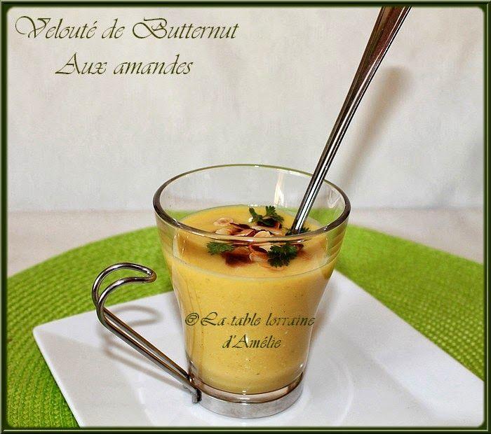 Velouté de Butternut aux amandes (au Thermomix ou pas) | Velouté de butternut, Velouté, Butternut