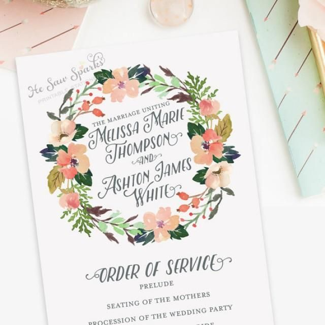 image result for watercolor wedding program programs that i like