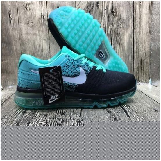 Nike Flyknit Max 2017 Couple running shoes Black jade in