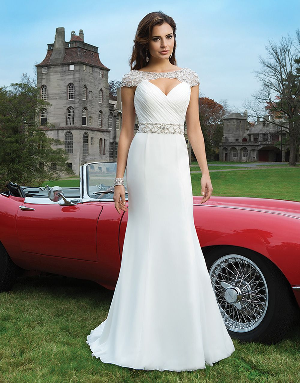 Back out wedding dresses  Justin Alexander wedding dresses style  Chiffon fit and flare