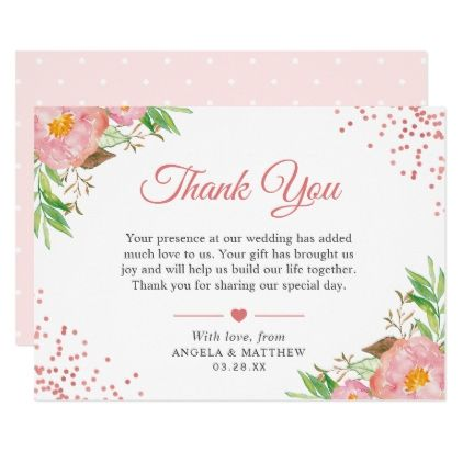 Watercolor Wedding Thank You Cards \u00b7 12 photo Thank You Card \u00b7 Tri-Fold Custom Thank You Note 3