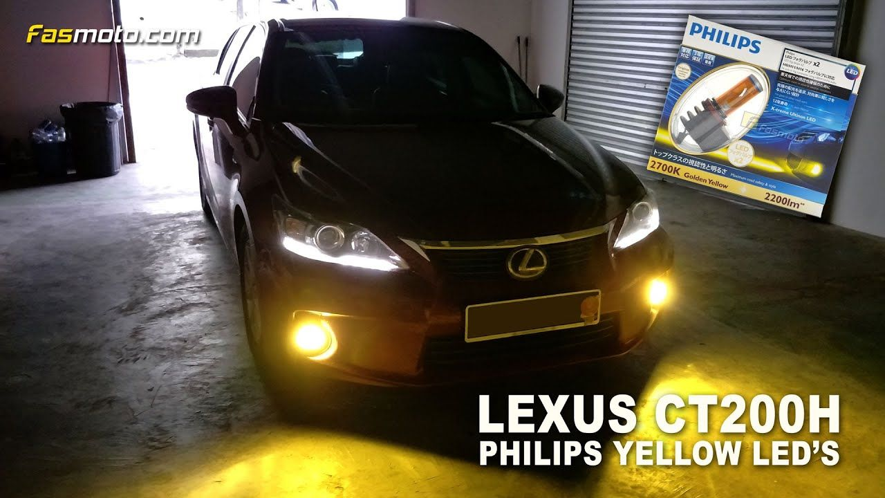 Visual of the Lexus CT200H with the Philips Yellow