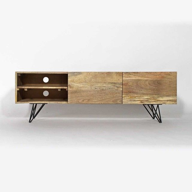 made in meubles meuble tv manguier baltiq bt0200a la redoute appart 39 pinterest. Black Bedroom Furniture Sets. Home Design Ideas