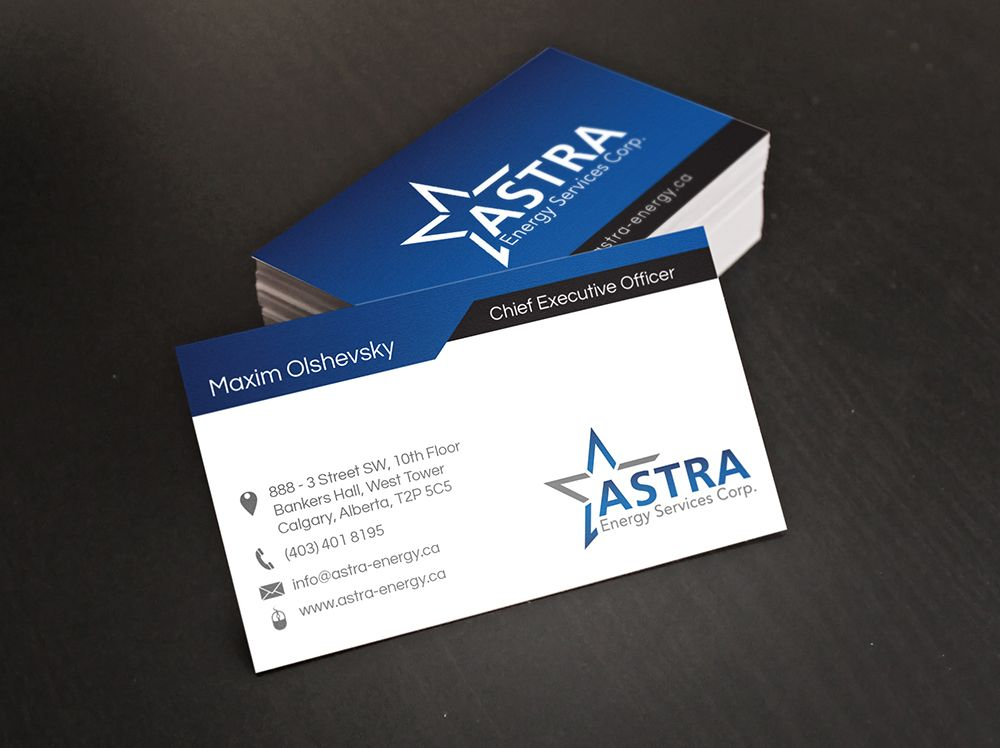 Business Card Design For A Local Energy Company Business Card