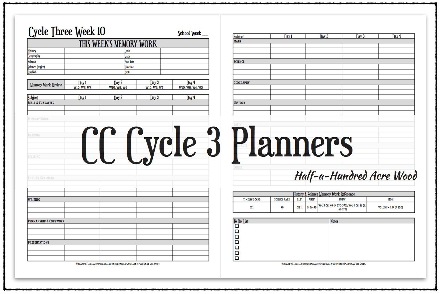 New Cc Cycle 3 Planners