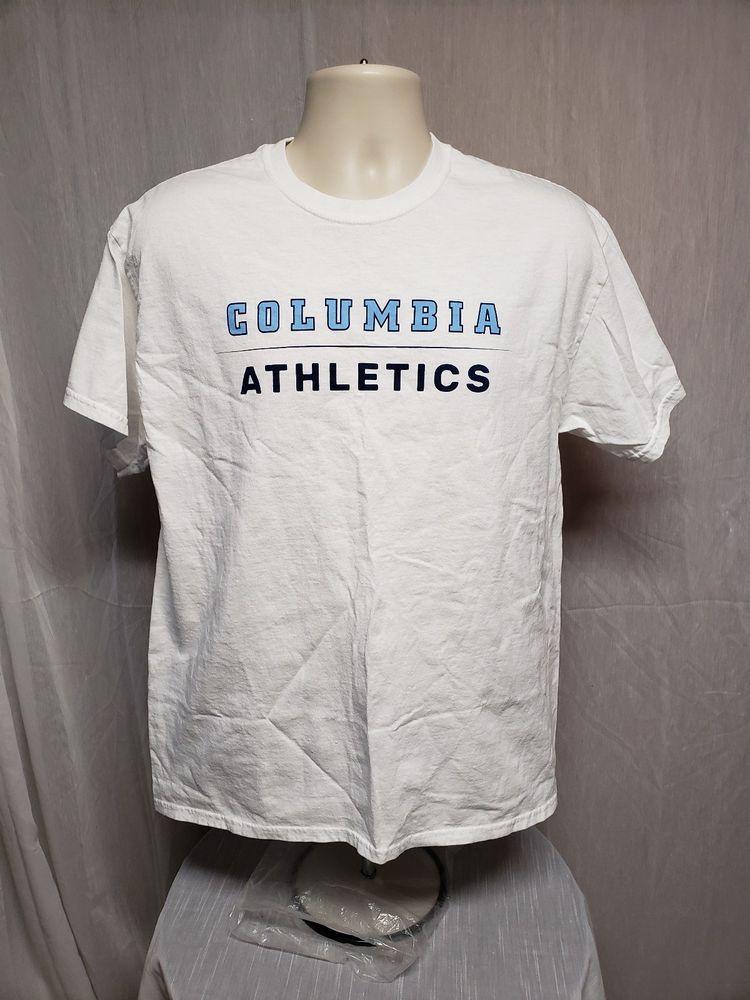98d327466c4 Columbia University Athletics Alumni Adult Large White TShirt #Gildan