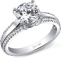 Sylvie Double Row Diamond Engagement Ring