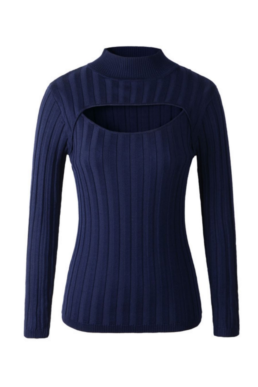 7e5fbe0b663 High-neck Open Chest Sweater in 2019