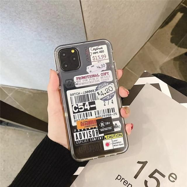 Stamp Label Barcode iPhone 12 Pro Case