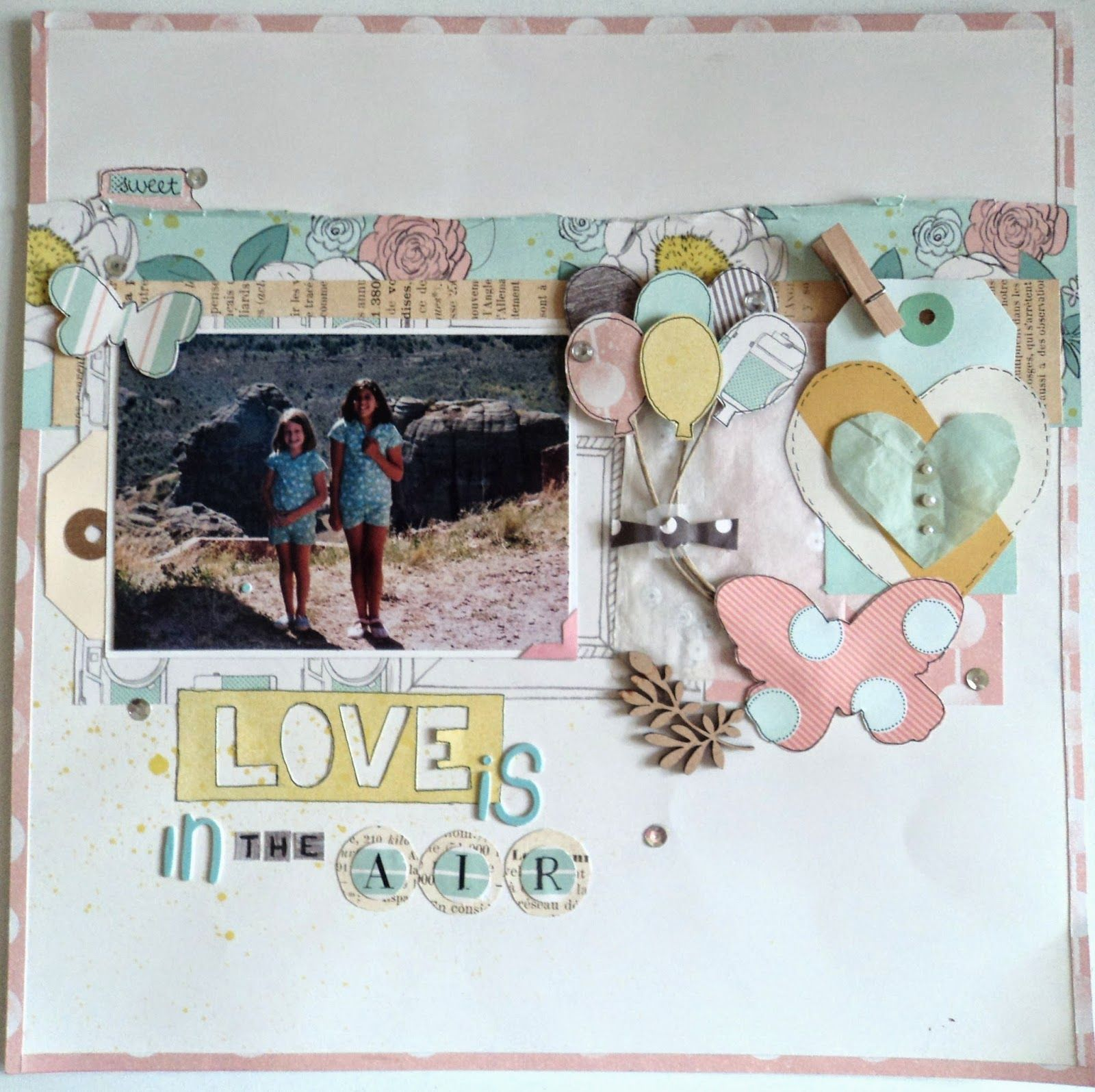 scrapbooking rules: Layout Love is in the air