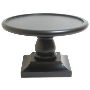 Black Wood Round Candle Plate with Square Base -  sc 1 st  Pinterest & What else can you sit a centerpiece on other than a mirror ...