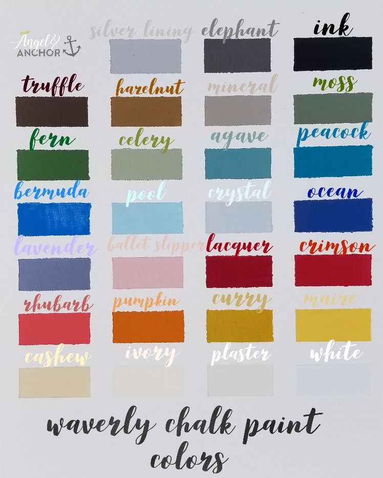 Waverly Chalk Paint Colors Waverly Chalk Paint Chalk Paint Colors Chalk Paint