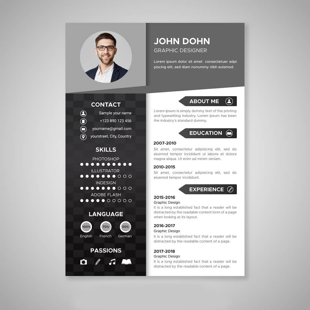 Epingle Sur Creative Resume Template