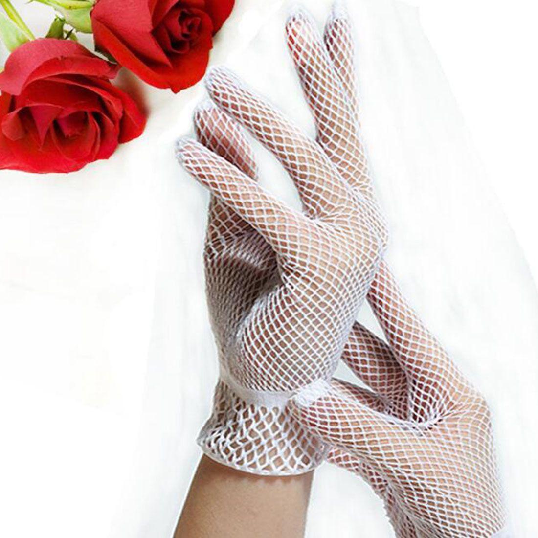 Wedding Dress Preservation Uv Protected: Hot 1 Pair Fishnet Mesh Gloves Women Gloves Summer Uv