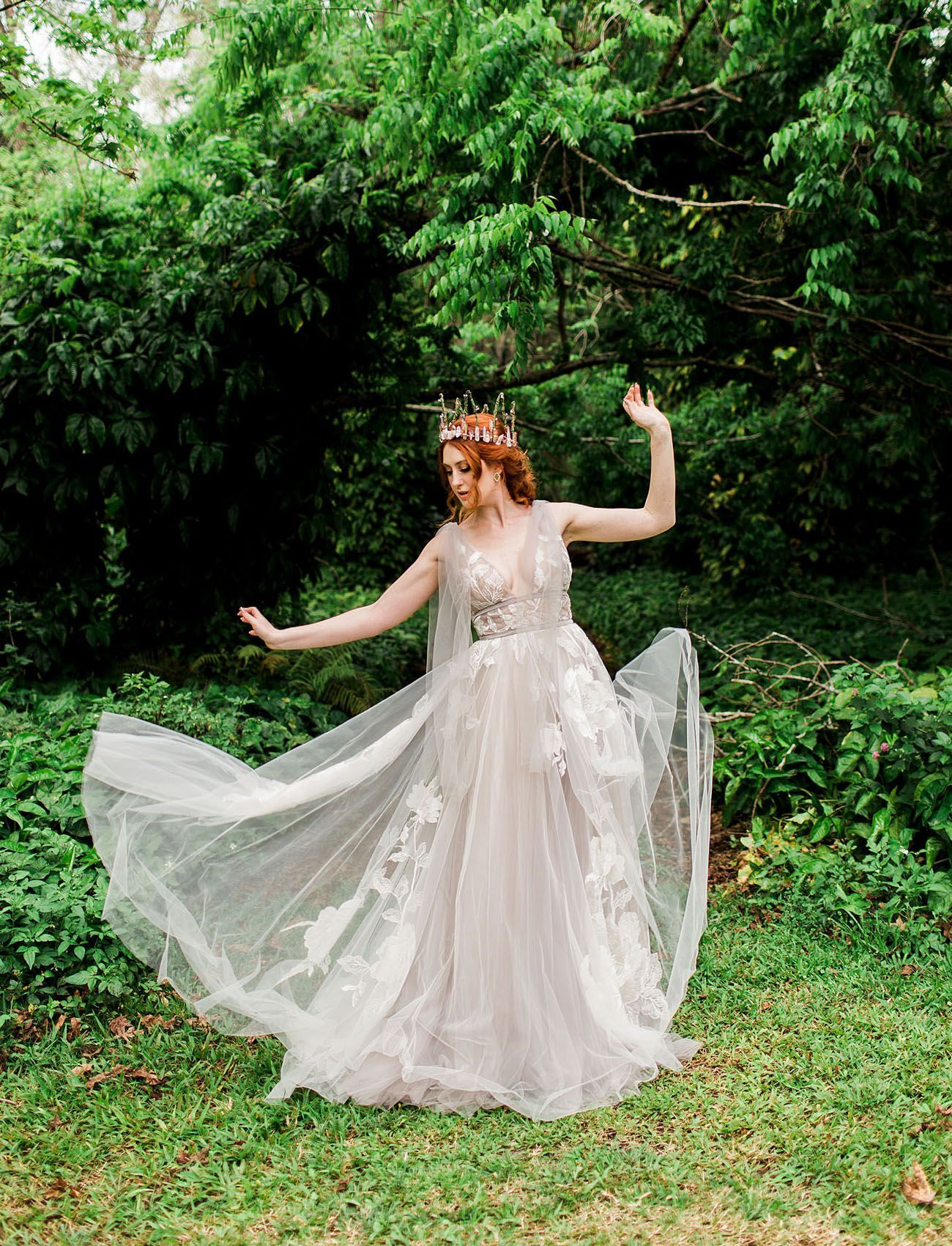 One Ring To Rule Them All A Fantasy Forest Wedding Bonded By Fellowship Green Wedding Sho Forest Wedding Dress Enchanted Forest Wedding Dress Forest Wedding [ 1700 x 1300 Pixel ]