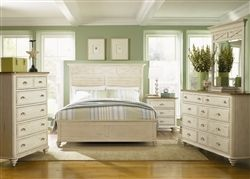 Ocean Isle Panel Bed 6 Piece Bedroom Set in Bisque with Natural Pine Finish by Liberty Furniture - 303-BR13 #indischesschlafzimmer