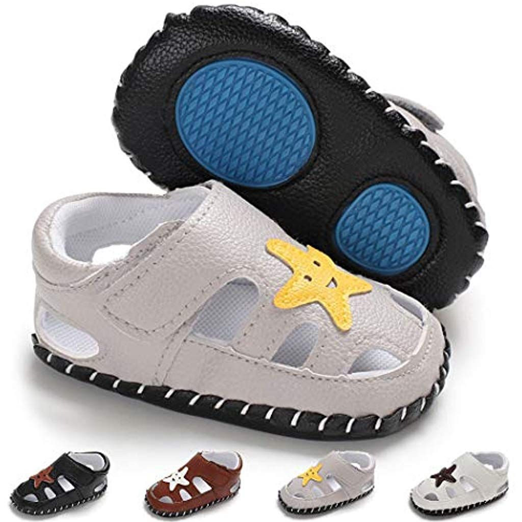 Newborn Crib Shoes Baby Girl Boy Infant Shoes Toddler Pu Leather Soft Sole