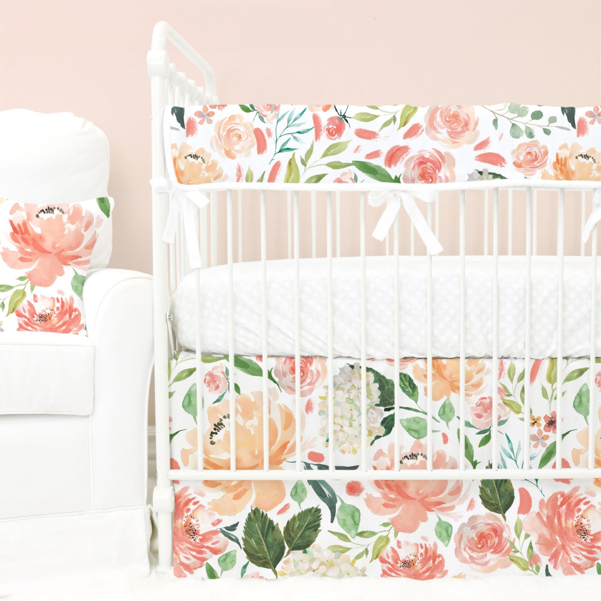 fawn basic special products floral peach cribs thanksgiving and crib set antler feathers bedding