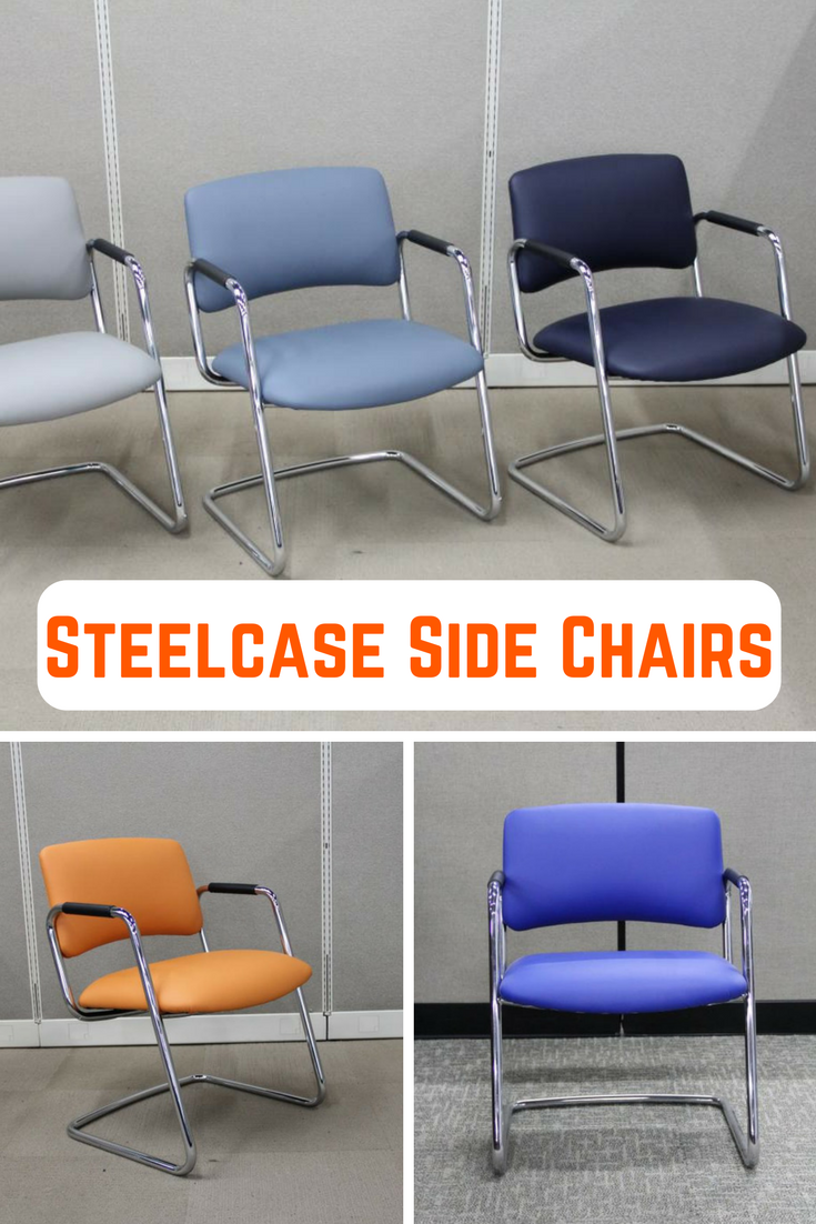 Steelcase Side Chairs. These sled based guest chairs were