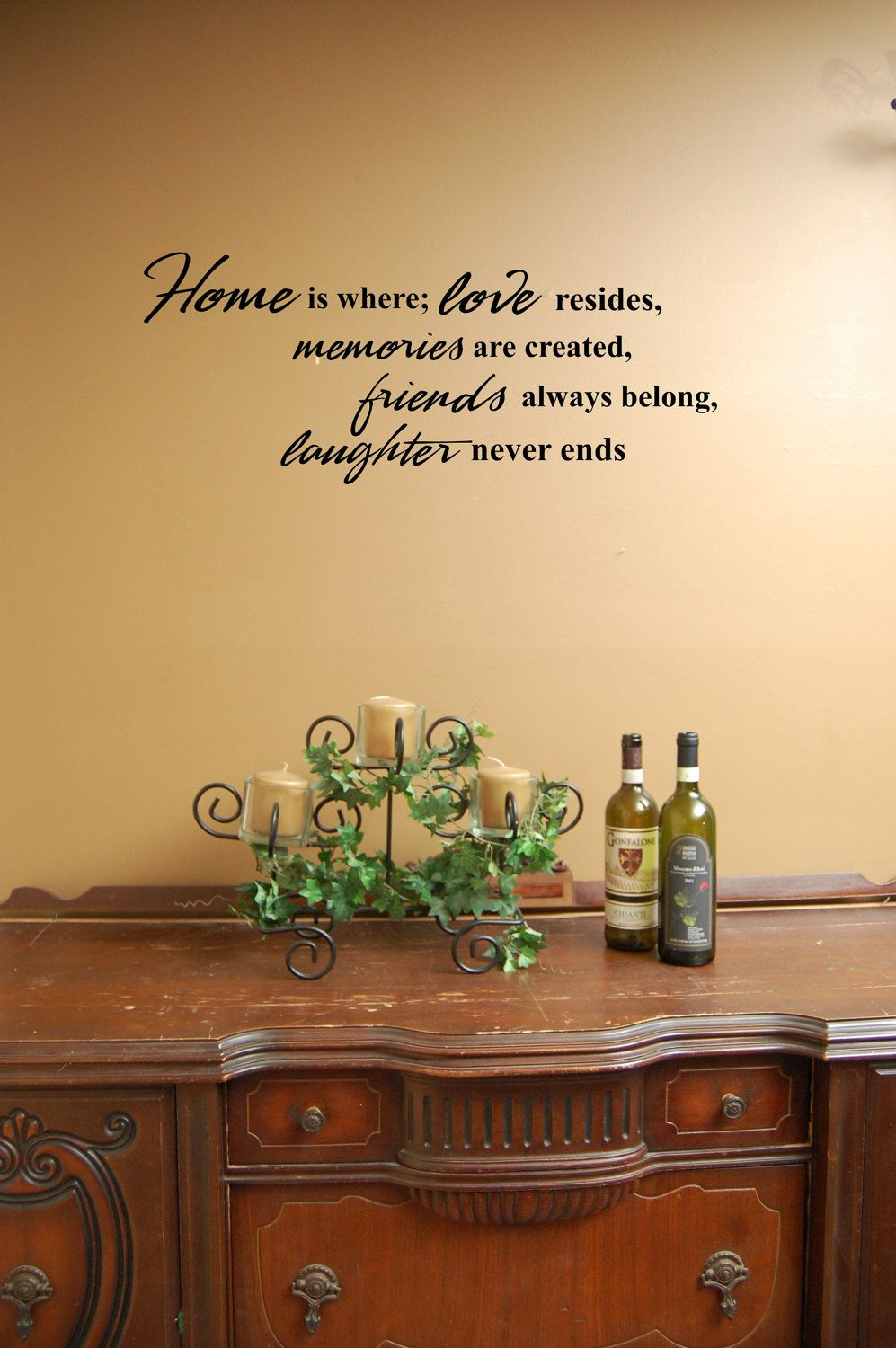 Psalm 34:8, Kitchen decal, Bible verse decal, Marriage wall decal ...