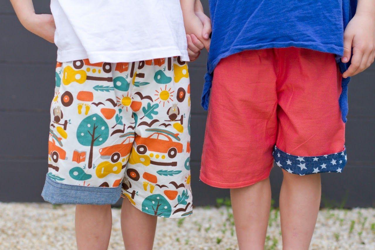 make it perfect: .A FREE PATTERN:: 2-in-1 Shorts.  Reversible shorts!  Free pattern sz0-5