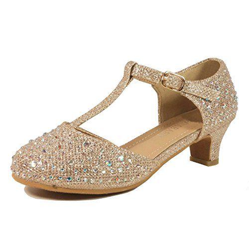 7e0f0f8a90ef04 Nova Adorababy Toddler Little Girls Low Medium Heel Dress Sandal Shoes