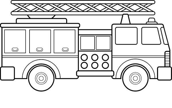 How To Draw Fire Engine Coloring Pages School Pinterest