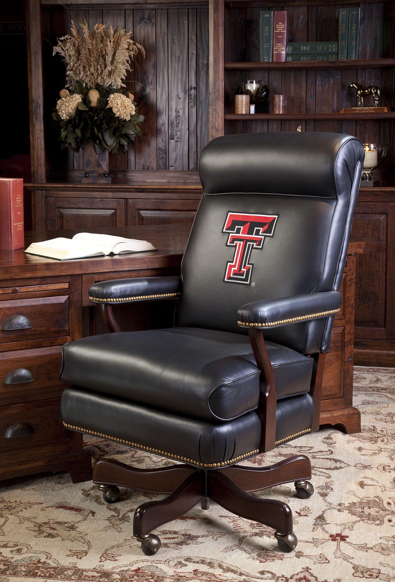Texas Tech Executive Chair Black leather chair, Chair
