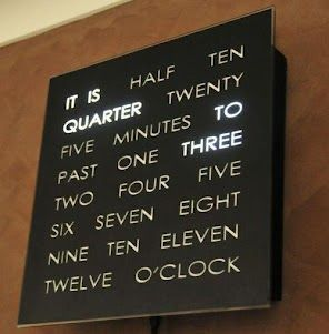 Cool Clock That Lights Up The Words To Tell You The Time I