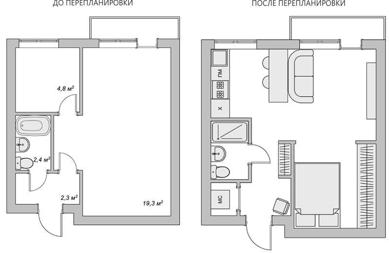 Как отремонтировать хрущевку и превратить ее в современное жилье | 521x800