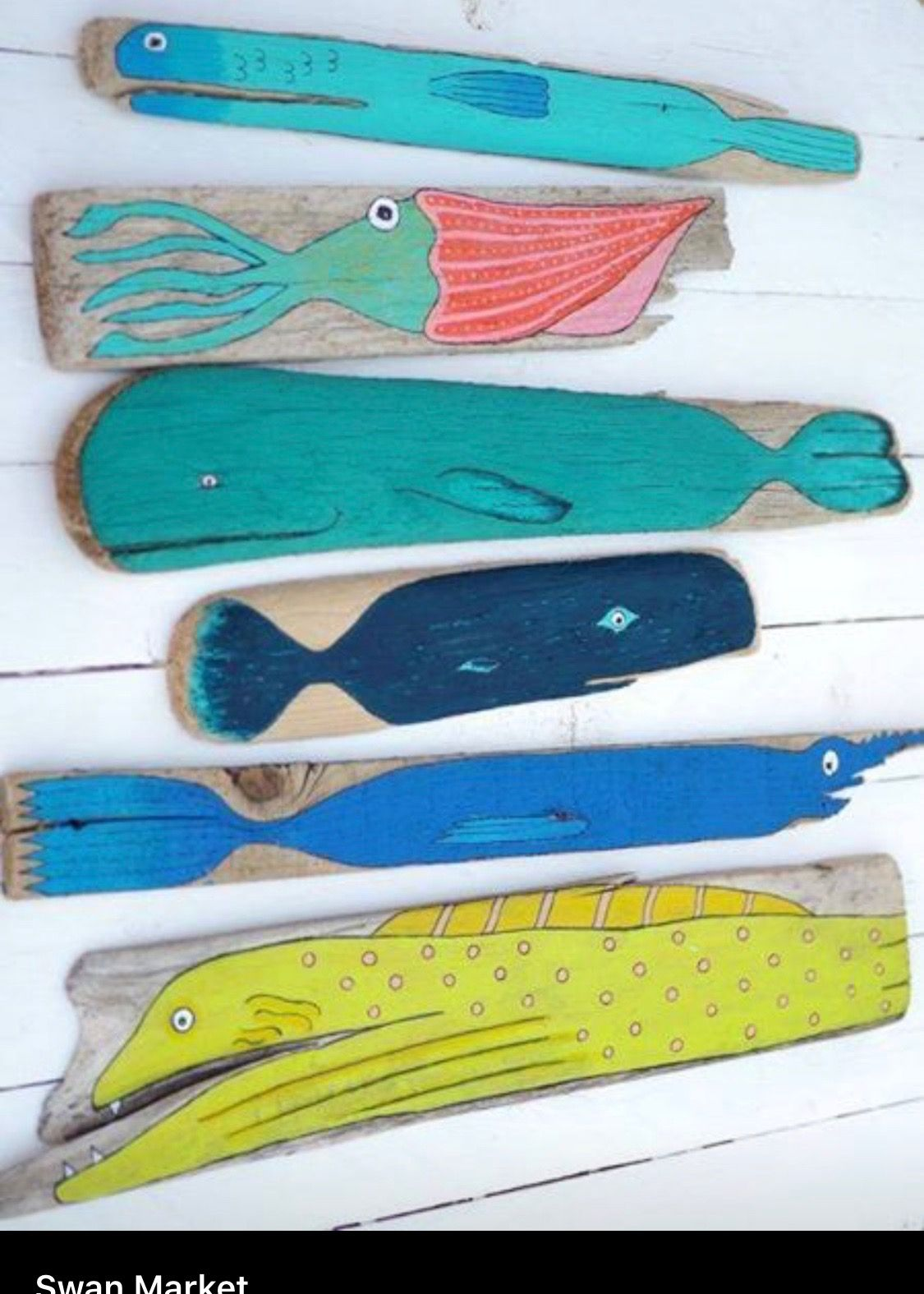 Drift Wood From Our Cape Adventures Painted Driftwood Wooden