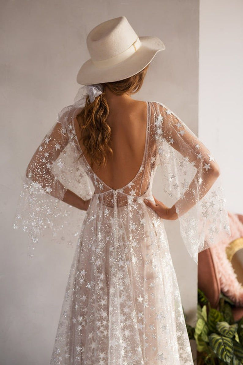 Bohemian Starry Gown  – Erin's wedding