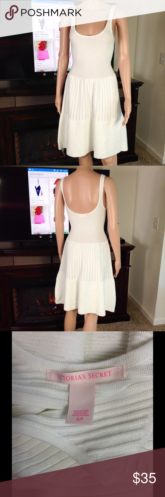 """Victoria's Secret Knit Dress ✔️Length from shoulders 36"""". Like new. No rips, holes or stains. See materials on last photo. ✔️ Reasonable offers or bundle 3 listings and get automatic 20% discount. ✔️Same day shipping  ✔️Freebie ❌No trades or outside PM transactions ✔️ Questions Happy shopping Victoria's Secret Dresses"""