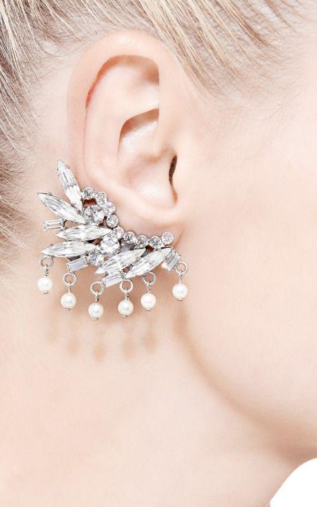 Brianna Swarovski-Crystal and Faux-Pearl Earrings by Dannijo - Moda Operandi