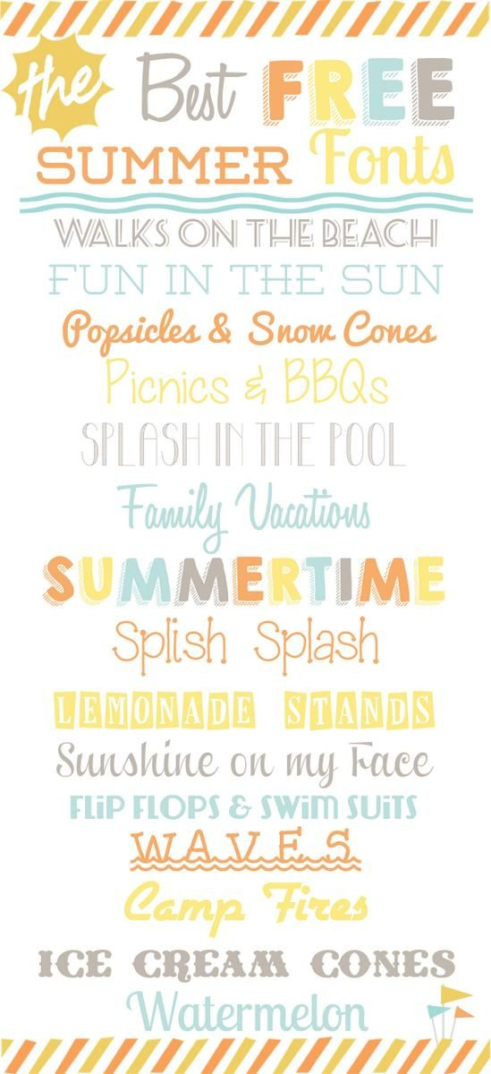15 Best Free SUMMER Fonts from Food,Folks and Fun
