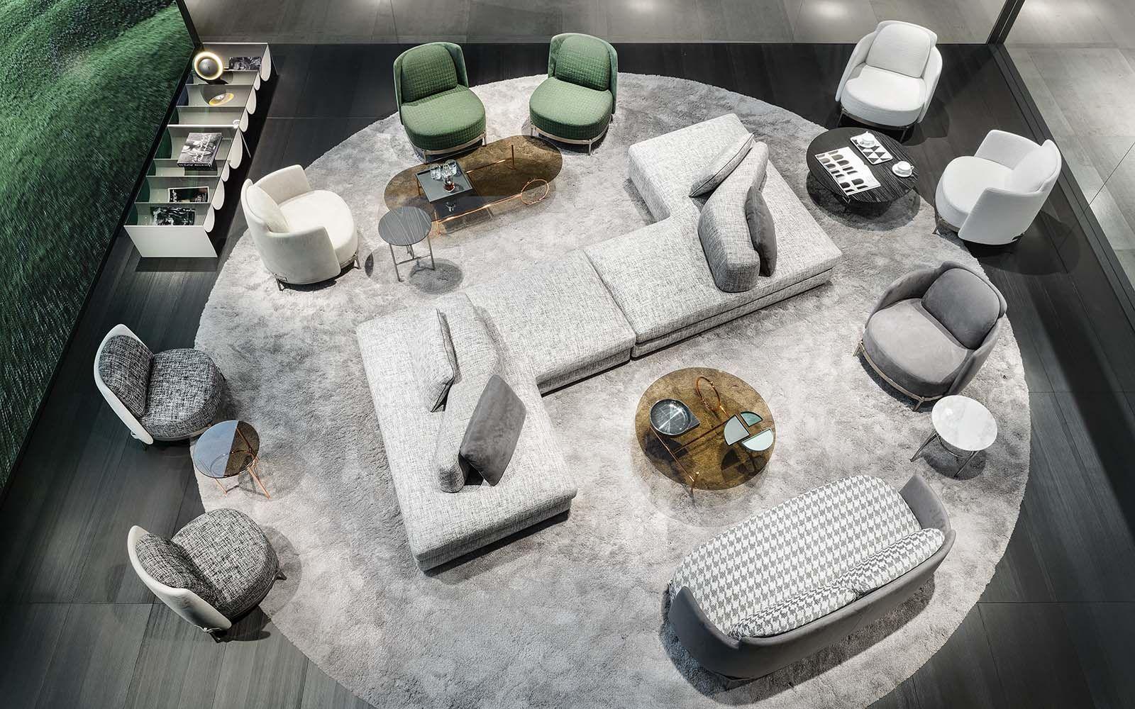 2018 Collection Granville Seating System Christophe Delcourt Design Tape Armchair Amd Sofa Nendo Design Mino Furniture Layout Italian Furniture Furniture