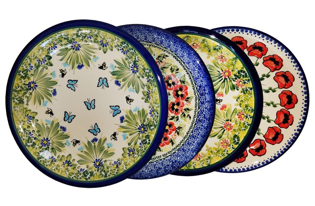 Our beautiful dinner plate set features four complimentary patterns! #PolishPottery #Polish #Pottery  sc 1 st  Pinterest & Our beautiful dinner plate set features four complimentary patterns ...