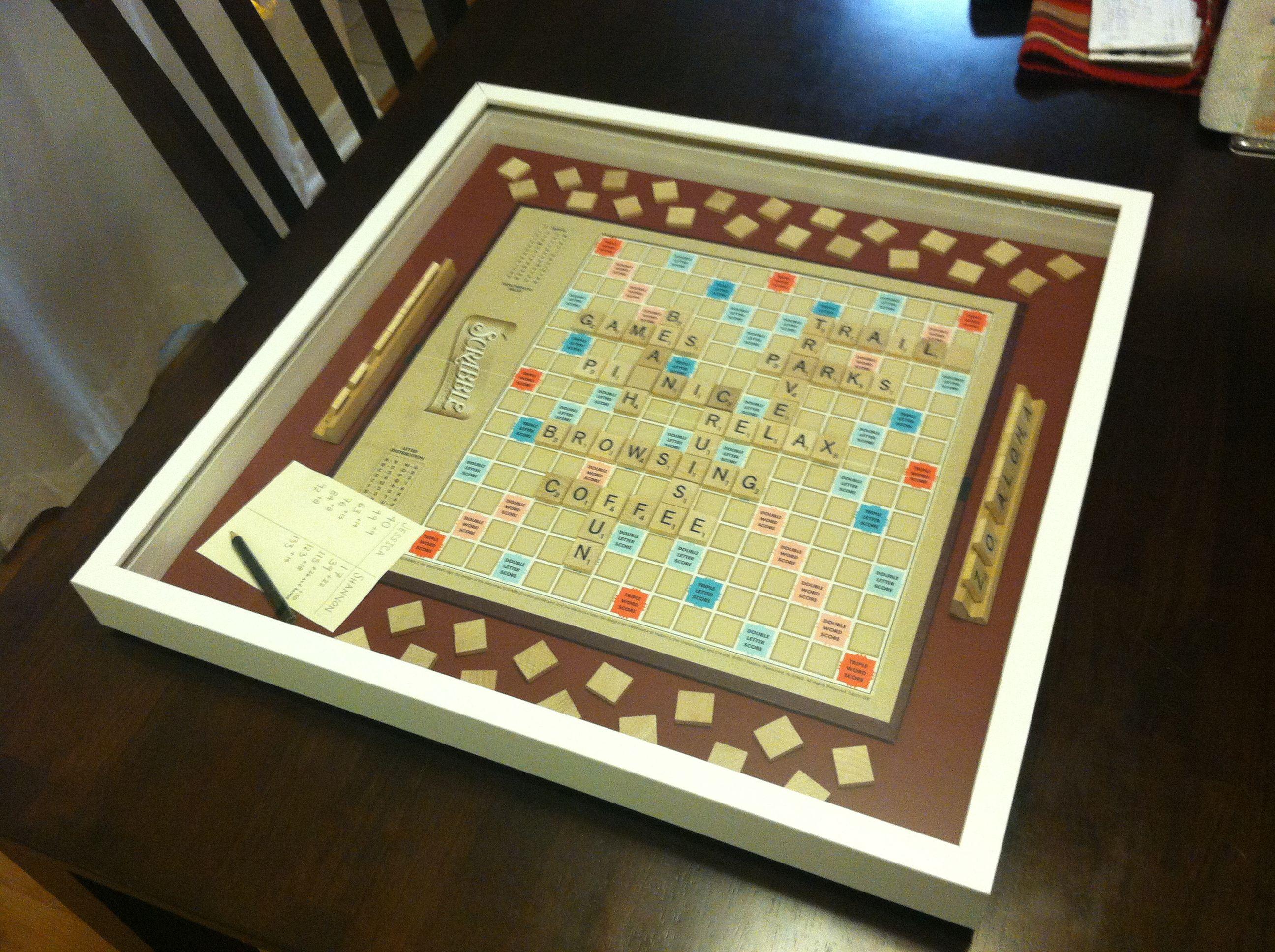 Scrabble Wall Art: Homemade art from an old Scrabble board game ...