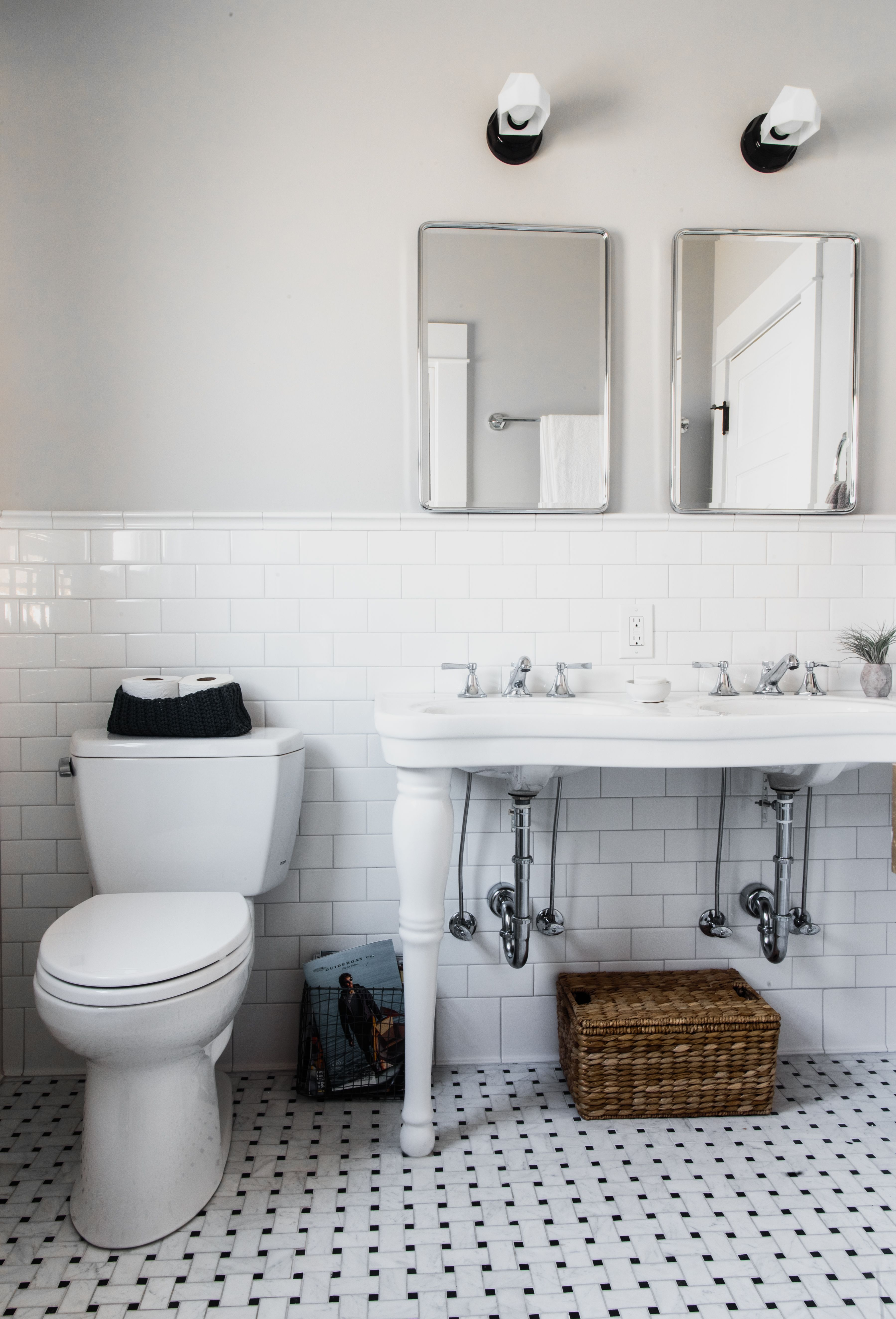a basement bathroom remodel featuring clean white subway on bathroom renovation ideas white id=77041