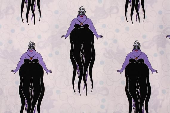 Half Yard Disney Villains Ursula Little Mermaid Fabric ...