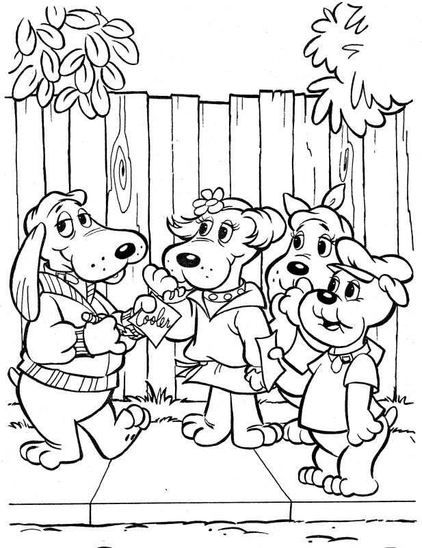 Poundpuppies 1980s Coloring Page Puppy Coloring Pages Cartoon Coloring Pages Coloring Pages