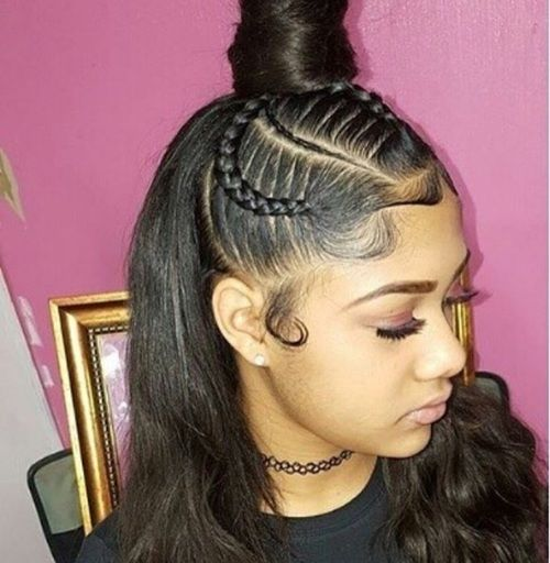 hairstyles hair sew near weave salon ponytail fancy styles natural topbuzz