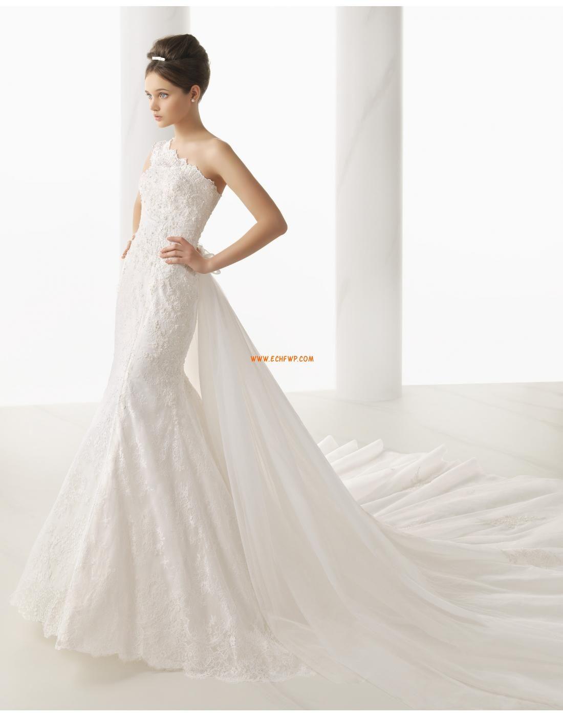 Meerjungfrau-Linie/Mermaid-Stil Spitzen-Looks 3/4 Arm Brautkleider ...