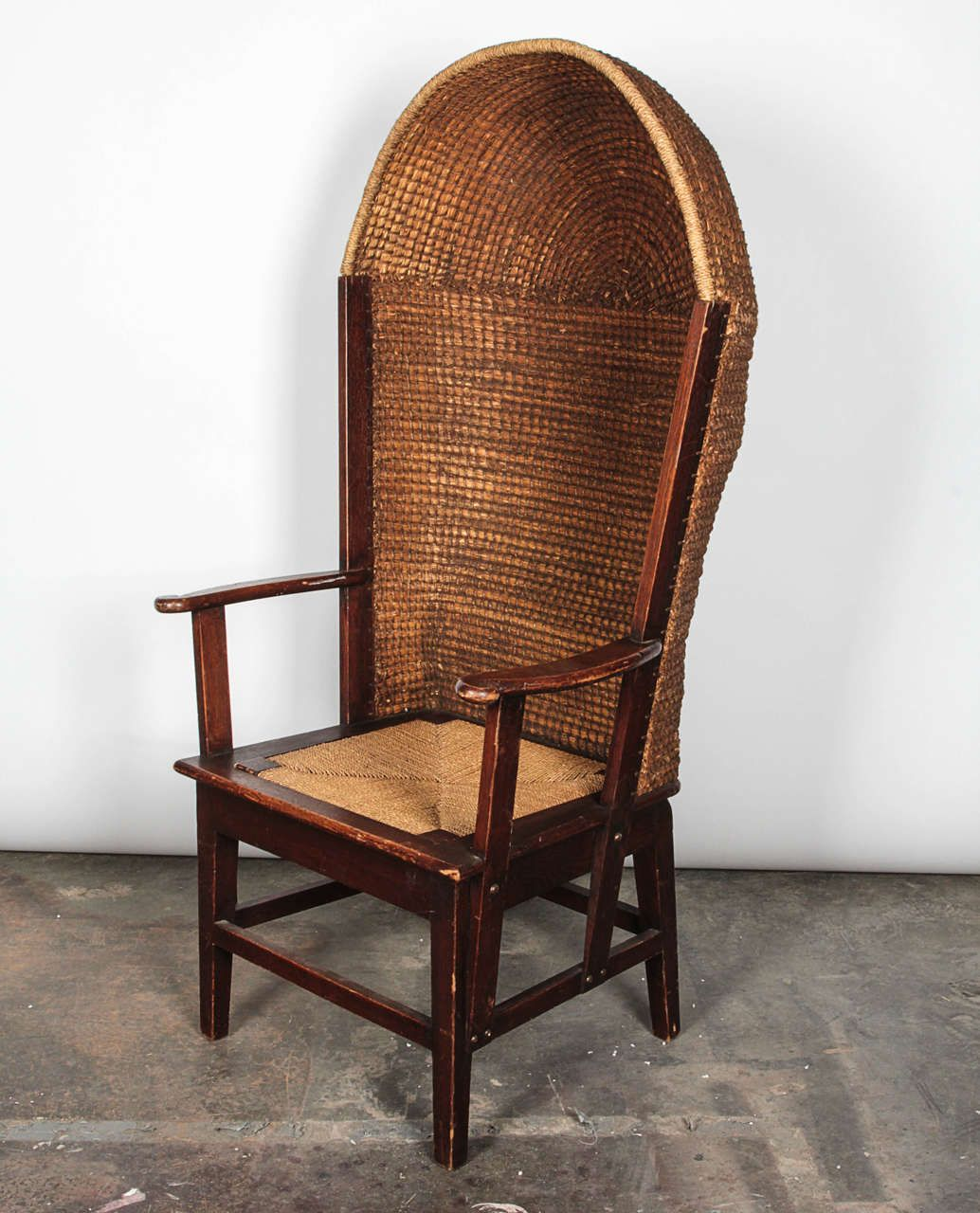 Enjoyable Wood And Reed Orkney Porter Chair Primitive Furniture Cjindustries Chair Design For Home Cjindustriesco