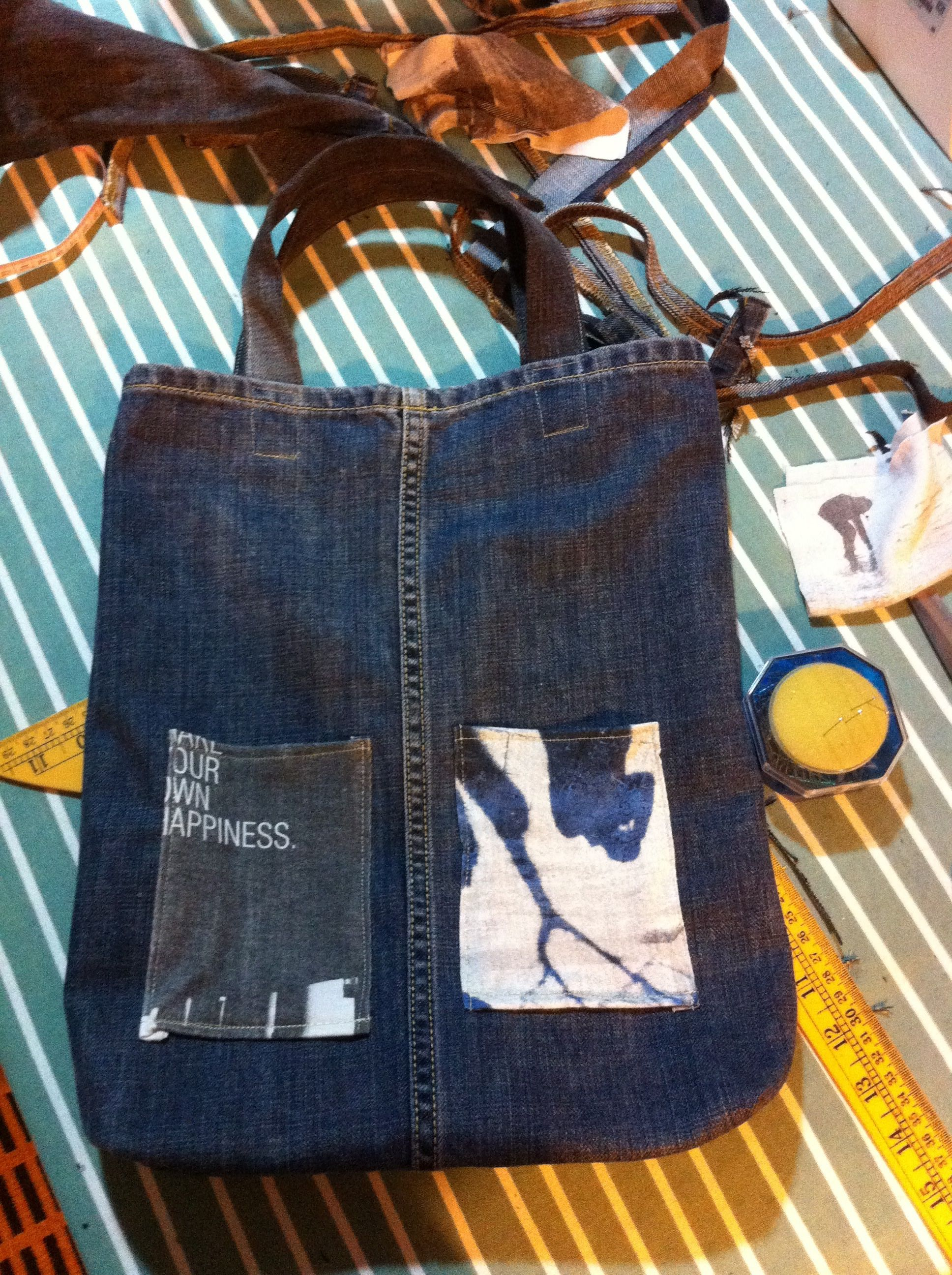 recycle jeans + tshirt