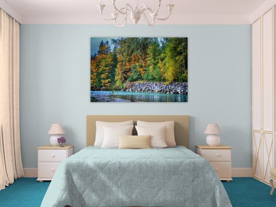 Commercial Wall Art, Pacific Northwest, Fall, River, Large Wall ...