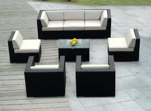 Genuine Ohana Outdoor Patio Wicker Sofa Sectional Furniture 8pc